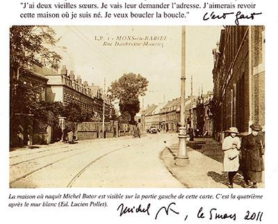Vue du quartier de Michel Butor signée de sa main