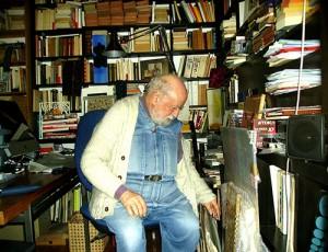 Michel Butor, chez lui à Lucinges en 2010
