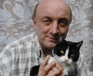 Patrick Ramskindt et son chat