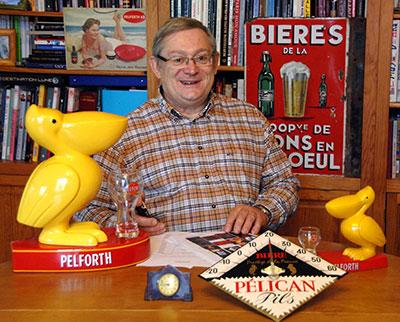 Jacques Desbarbieux collectionne les objets liés à la bière depuis plus de 30 ans